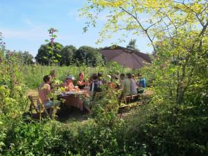 Idyllische plek voor een zomerse lunch op de akkerfauna, ZomersteMMMen 2012