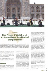 Artikel in magazine FOLK 2015/4 Festival Sharq Taronalari Hilde Frateur en Trio 2015